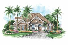 Colonial Exterior - Front Elevation Plan #1017-106