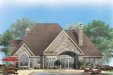 European Exterior - Rear Elevation Plan #929-915