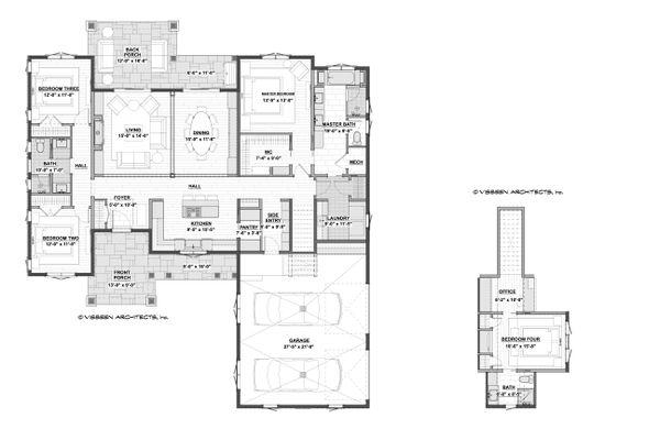 House Plan Design - Farmhouse Floor Plan - Main Floor Plan #928-355