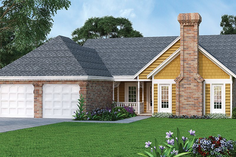 Ranch Exterior - Front Elevation Plan #45-386