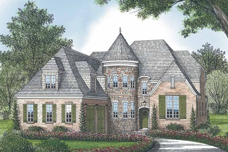 European Exterior - Front Elevation Plan #453-584