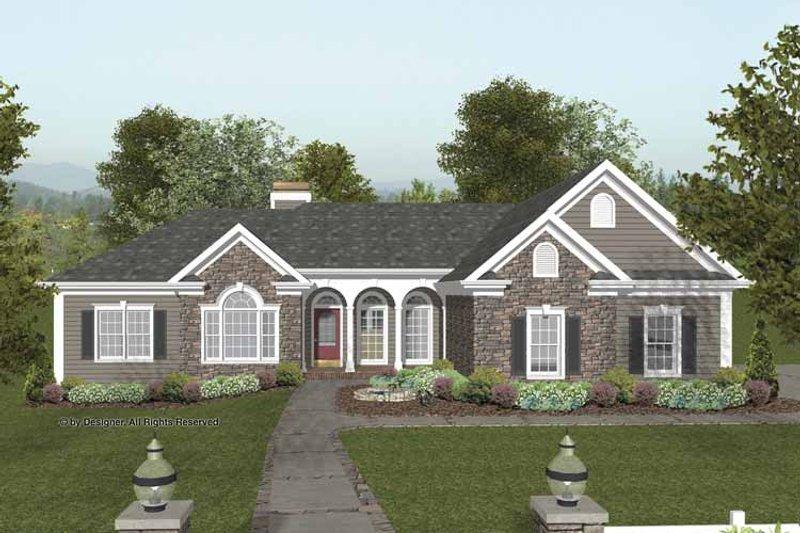 Craftsman Exterior - Front Elevation Plan #56-689 - Houseplans.com