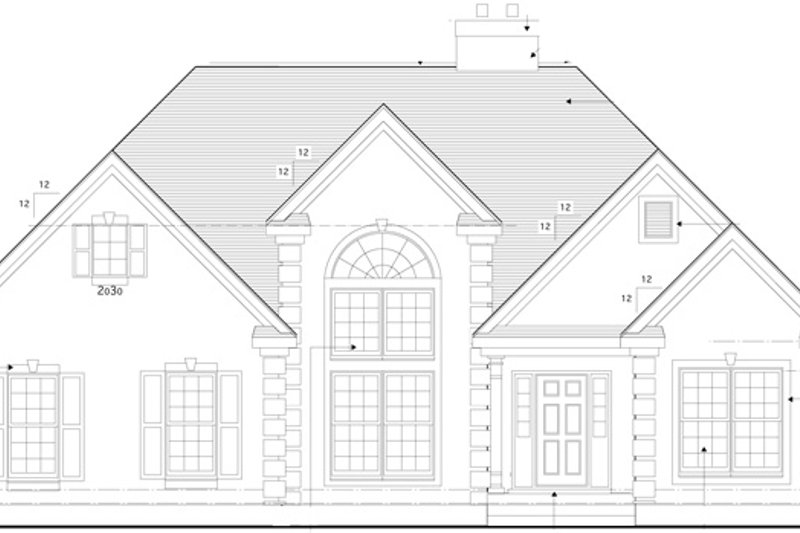 Traditional Exterior - Front Elevation Plan #1053-22 - Houseplans.com