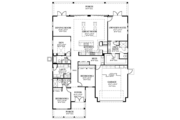 Colonial Style House Plan - 3 Beds 3 Baths 2562 Sq/Ft Plan #1058-148 Floor Plan - Main Floor