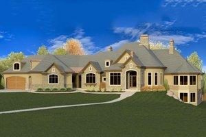 Home Plan - European Exterior - Front Elevation Plan #920-63