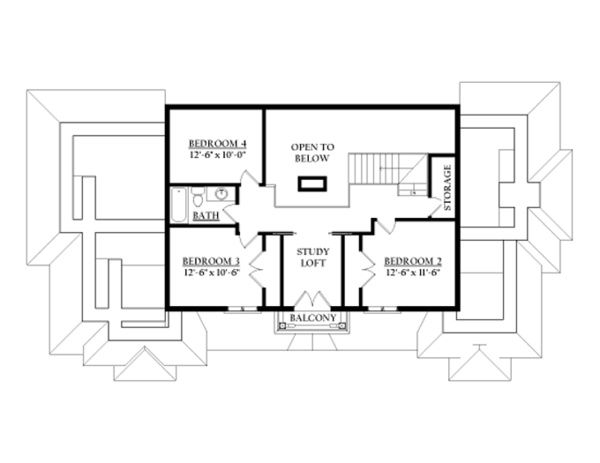 Prairie Floor Plan - Upper Floor Plan Plan #937-31