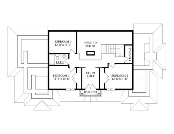 Prairie Floor Plan - Upper Floor Plan Plan #937-31