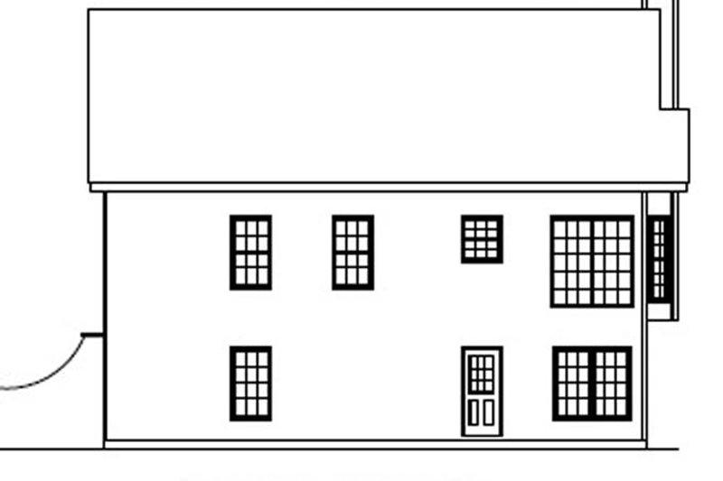 Country Exterior - Rear Elevation Plan #927-149 - Houseplans.com