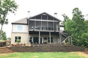 Craftsman Style House Plan - 4 Beds 3.5 Baths 3041 Sq/Ft Plan #437-76 Exterior - Rear Elevation