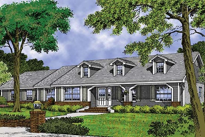 Mediterranean Exterior - Front Elevation Plan #417-684 - Houseplans.com