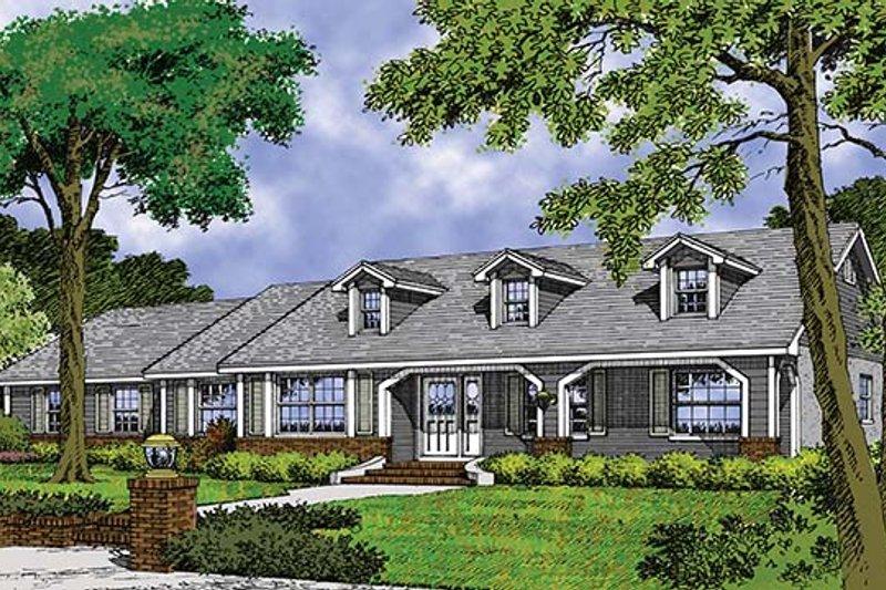 House Plan Design - Mediterranean Exterior - Front Elevation Plan #417-684