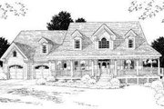 Country Style House Plan - 3 Beds 2.5 Baths 2916 Sq/Ft Plan #75-177 Exterior - Front Elevation