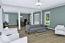 Architectural House Design - Traditional Interior - Family Room Plan #44-250