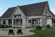 Farmhouse Style House Plan - 3 Beds 2.5 Baths 2364 Sq/Ft Plan #51-1159 Exterior - Rear Elevation
