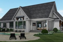 Dream House Plan - Farmhouse Exterior - Rear Elevation Plan #51-1159