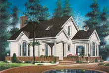 Country Exterior - Front Elevation Plan #23-218