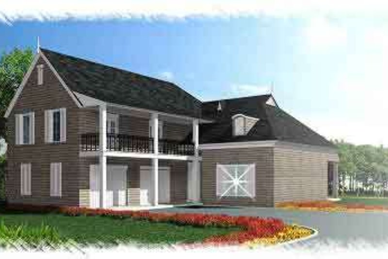 Southern Exterior - Front Elevation Plan #15-277