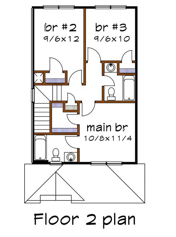 House Plan Design - Craftsman Floor Plan - Upper Floor Plan #79-311