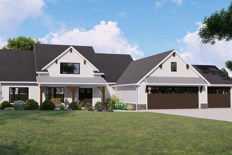 Architectural House Design - Farmhouse Exterior - Front Elevation Plan #1064-124