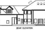 Country Style House Plan - 4 Beds 3.5 Baths 4313 Sq/Ft Plan #60-592 Exterior - Rear Elevation