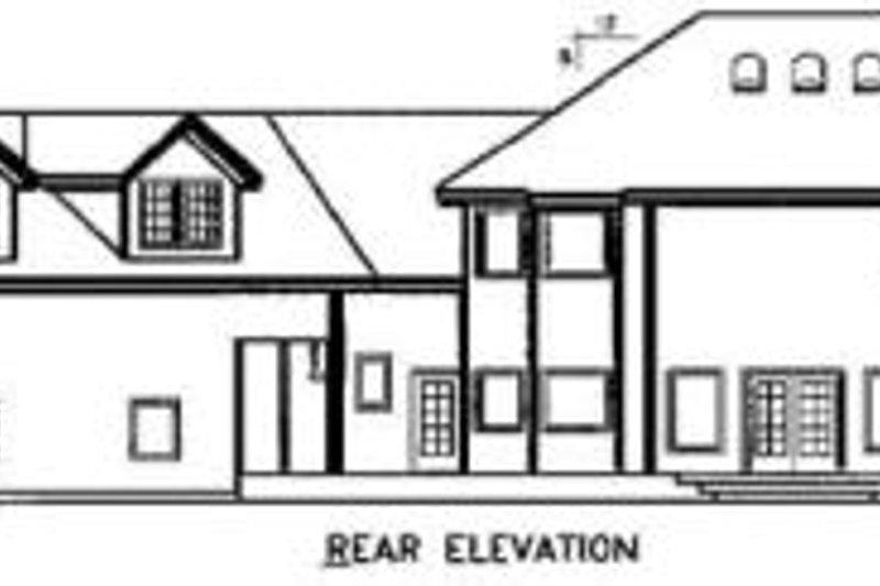 Country Exterior - Rear Elevation Plan #60-592 - Houseplans.com