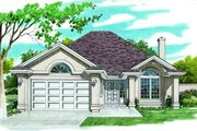 Mediterranean Style House Plan - 3 Beds 2 Baths 1477 Sq/Ft Plan #47-552 Exterior - Front Elevation