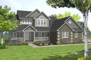 Traditional Style House Plan - 3 Beds 2.5 Baths 2150 Sq/Ft Plan #50-256 Exterior - Front Elevation