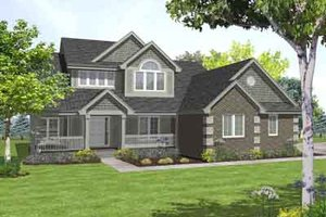 Traditional Exterior - Front Elevation Plan #50-256