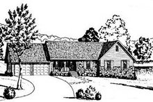 Home Plan - Ranch Exterior - Front Elevation Plan #36-144