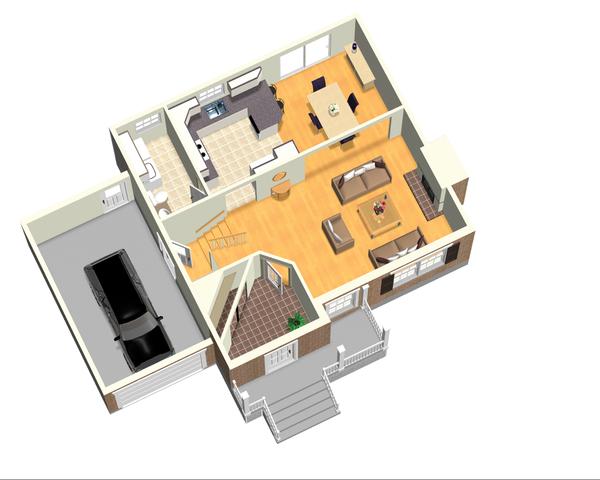 Traditional Floor Plan - Main Floor Plan Plan #25-4696