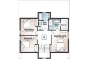 Modern Style House Plan - 3 Beds 2.5 Baths 1824 Sq/Ft Plan #23-2682 Floor Plan - Upper Floor