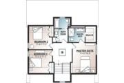 Modern Style House Plan - 3 Beds 2.5 Baths 1824 Sq/Ft Plan #23-2682