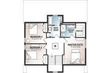 Modern Floor Plan - Upper Floor Plan Plan #23-2682