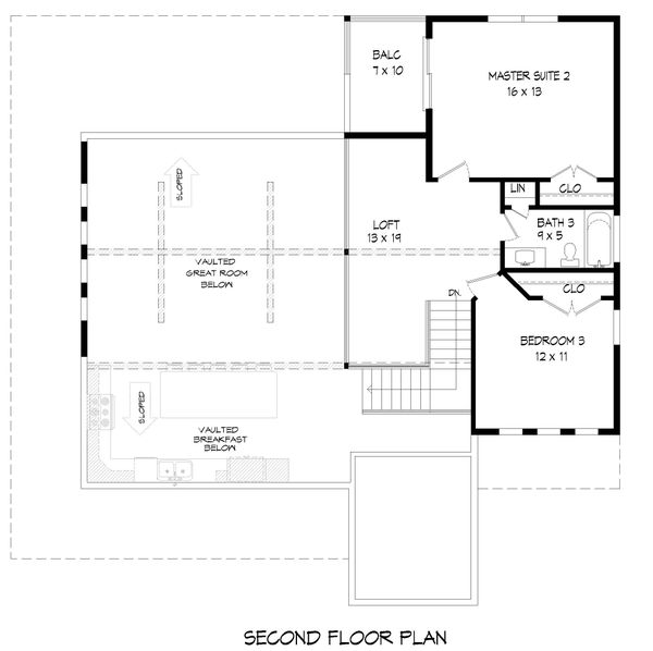 Country Floor Plan - Upper Floor Plan #932-348