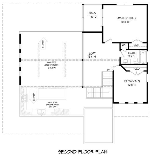 Dream House Plan - Country Floor Plan - Upper Floor Plan #932-348
