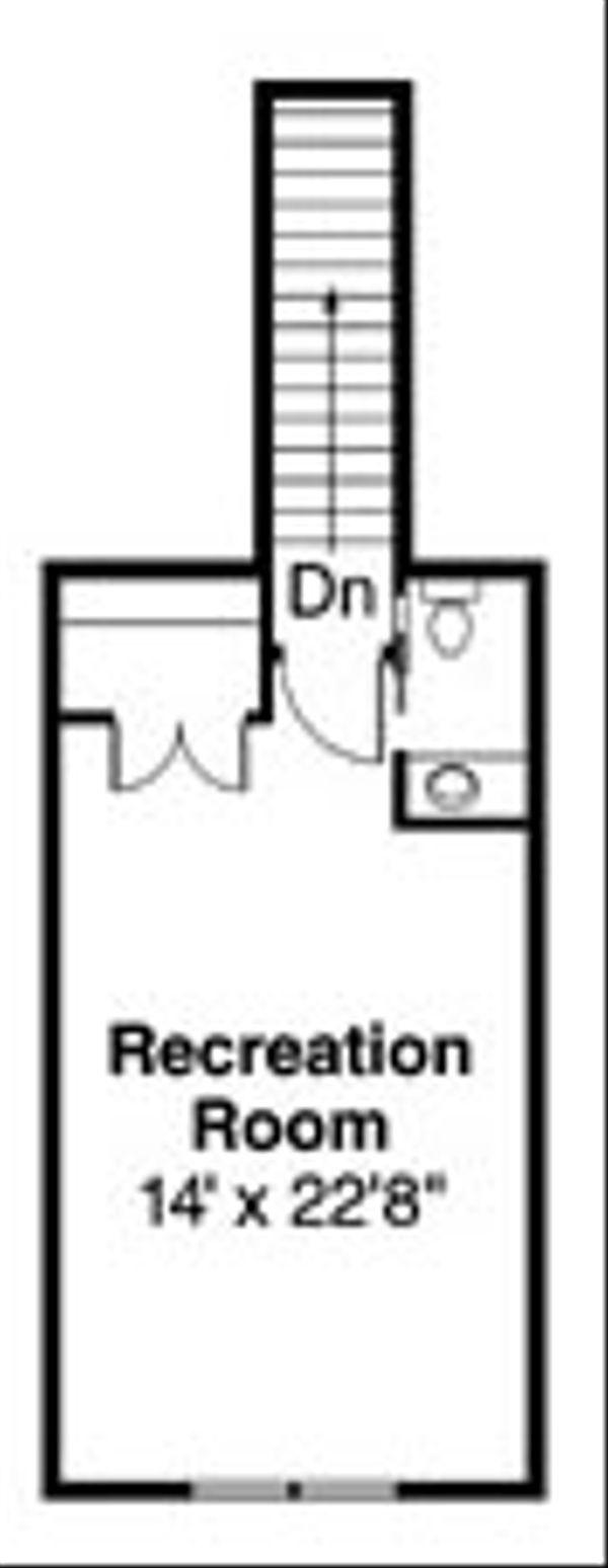 Craftsman Floor Plan - Upper Floor Plan Plan #124-758