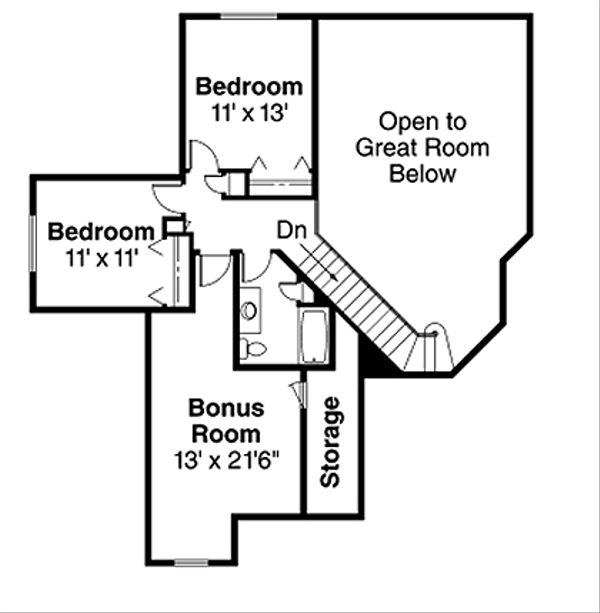 Floor Plan - Upper Floor Plan Plan #124-342