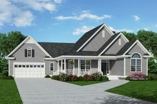 Country Exterior - Front Elevation Plan #929-475