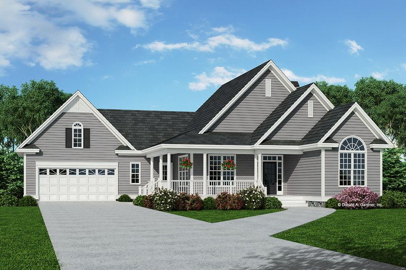 Architectural House Design - Country Exterior - Front Elevation Plan #929-475