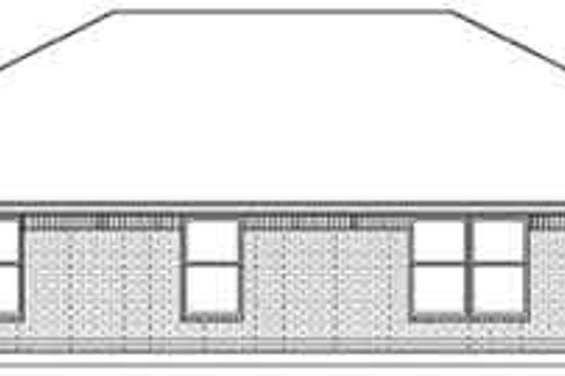 Ranch Exterior - Rear Elevation Plan #84-223 - Houseplans.com