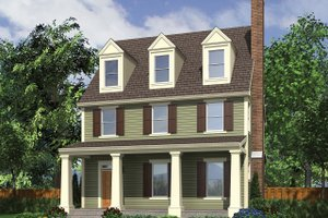 Dream House Plan - Traditional Exterior - Front Elevation Plan #48-966