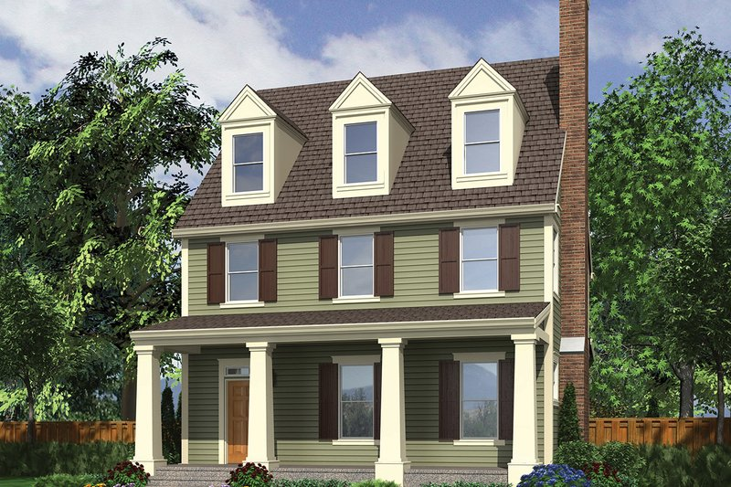 Traditional Exterior - Front Elevation Plan #48-966