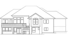 Mediterranean Exterior - Rear Elevation Plan #48-425
