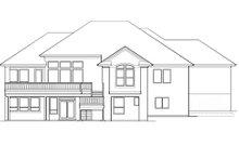 House Plan Design - Mediterranean Exterior - Rear Elevation Plan #48-425