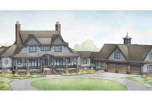 Country Exterior - Front Elevation Plan #928-285