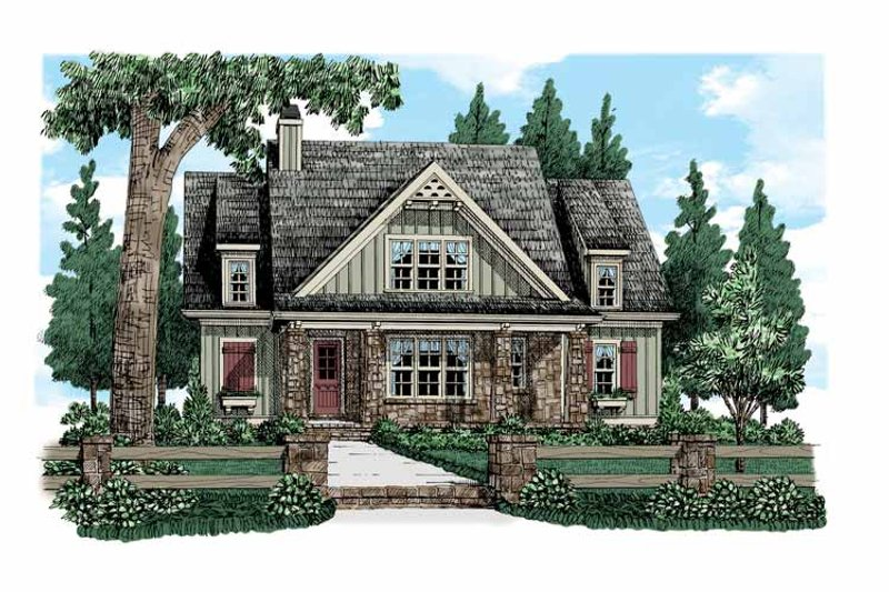 Colonial Exterior - Front Elevation Plan #927-520