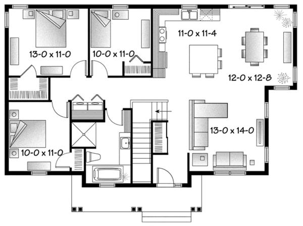 Country Floor Plan - Main Floor Plan Plan #23-2569
