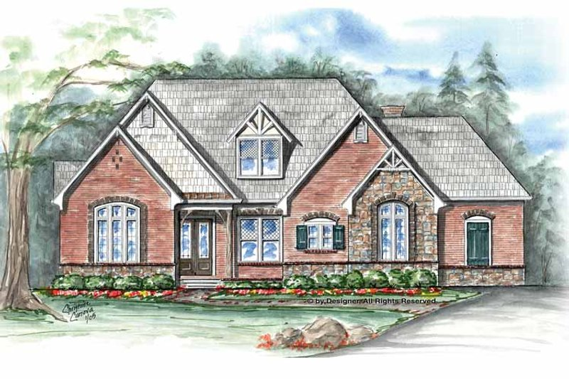Country Exterior - Front Elevation Plan #54-348 - Houseplans.com