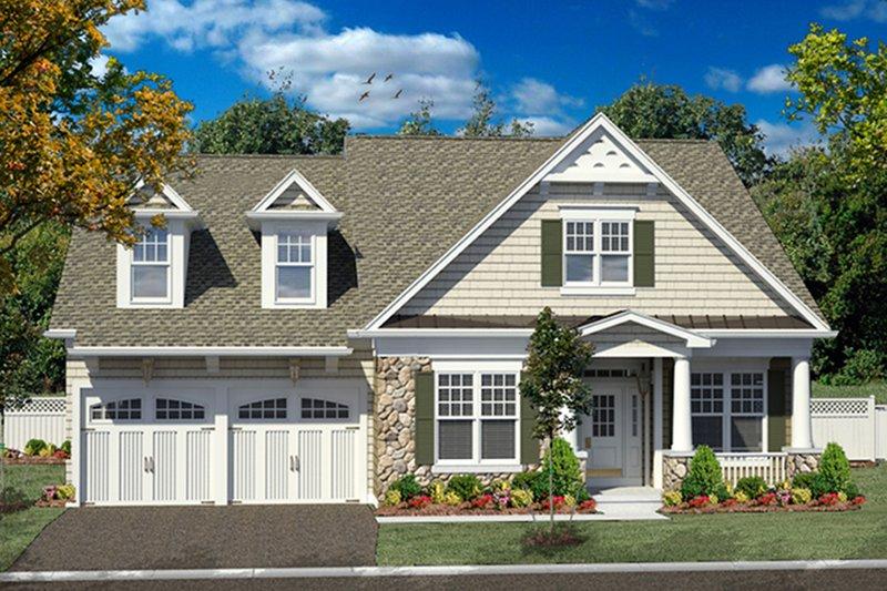 Craftsman Exterior - Front Elevation Plan #316-282