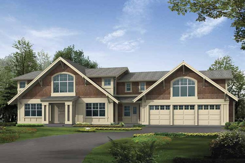 Dream House Plan - Craftsman Exterior - Front Elevation Plan #132-496